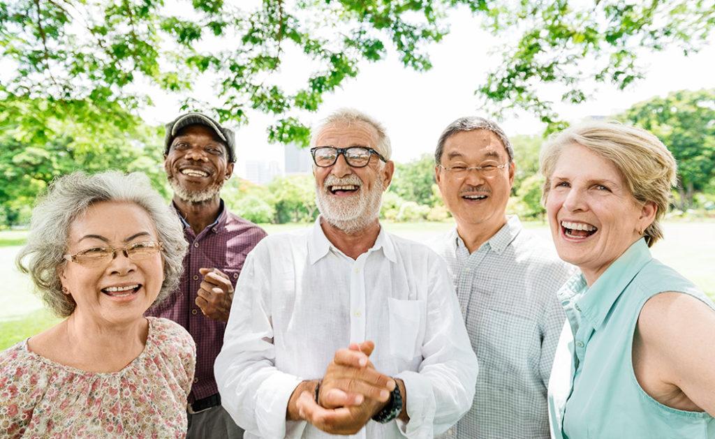 Elderly Group in Park